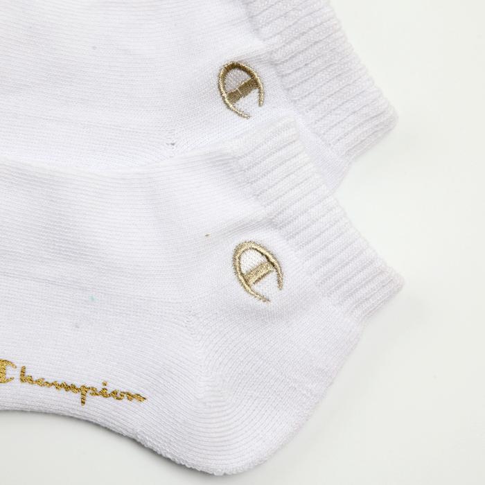 3足組 ショートレングスソックス金刺繍 【ハーフパイル】 17FW チャンピオン(C1-1707)