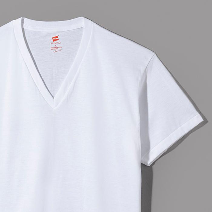 ヘインズ プレミアムジャパンフィット VネックTシャツ 17FW PREMIUM Japan Fit(HM1-F002)
