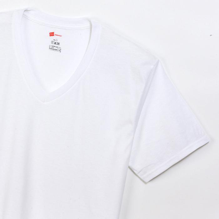 【2枚組】オープンエンドVネックTシャツ 17FW グローバルバリューライン ヘインズ(HM1EG754)
