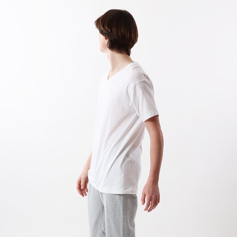 【3枚組】アカラベルVネックTシャツ 17FW 【秋冬新作】赤パック ヘインズ(HM2145K)