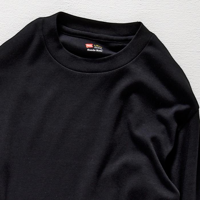 クルーネックロングスリーブTシャツ 17FW スエードニット ヘインズ(HM4-L501)
