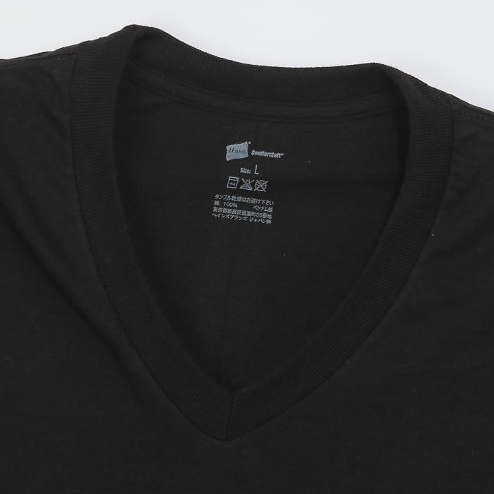 【2枚組】リングスパンVネックTシャツ 17FW グローバルバリューライン ヘインズ(HM1EG704)