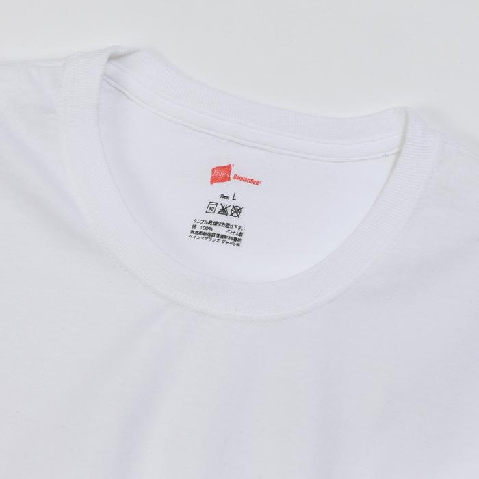 大きいサイズ 【2枚組】オープンエンドクルーネックTシャツ 17FW グローバルバリューライン ヘインズ(HM1EG752)