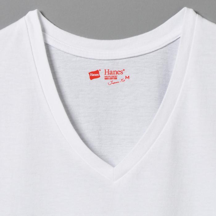 ウィメンズ ジャパンフィット【2枚組】VネックTシャツ 17FW Japan Fit for HER ヘインズ(HW5115)