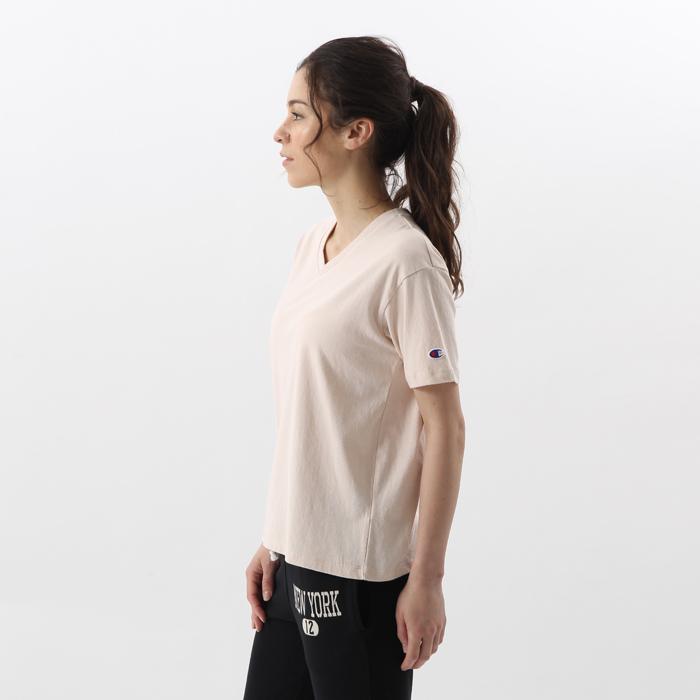 ウィメンズ VネックTシャツ 17FW チャンピオン(CW-K323)