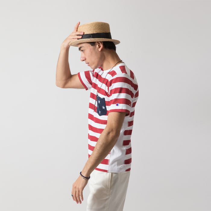リバースウィーブポケット付きTシャツ 17SS リバースウィーブ チャンピオン(C3-F310)