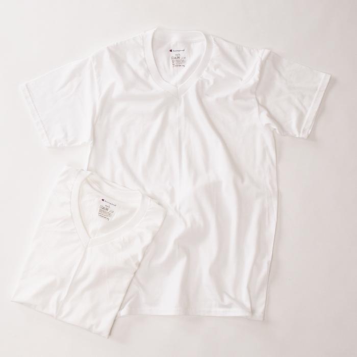 2枚組 リングスパンVネックTシャツ 17FW チャンピオン(CM1EH702)