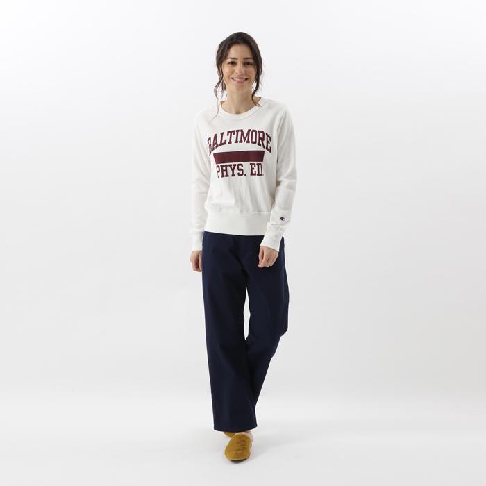 ウィメンズ クルーネックスウェットシャツ 17FW 【秋冬新作】チャンピオン(CW-L001)