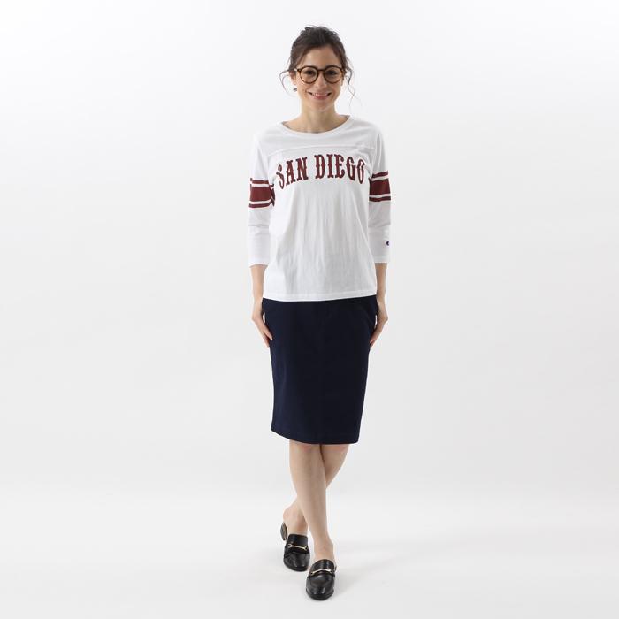ウィメンズ 3/4スリーブ【7分袖】フットボールTシャツ 17FW チャンピオン(CW-L401)