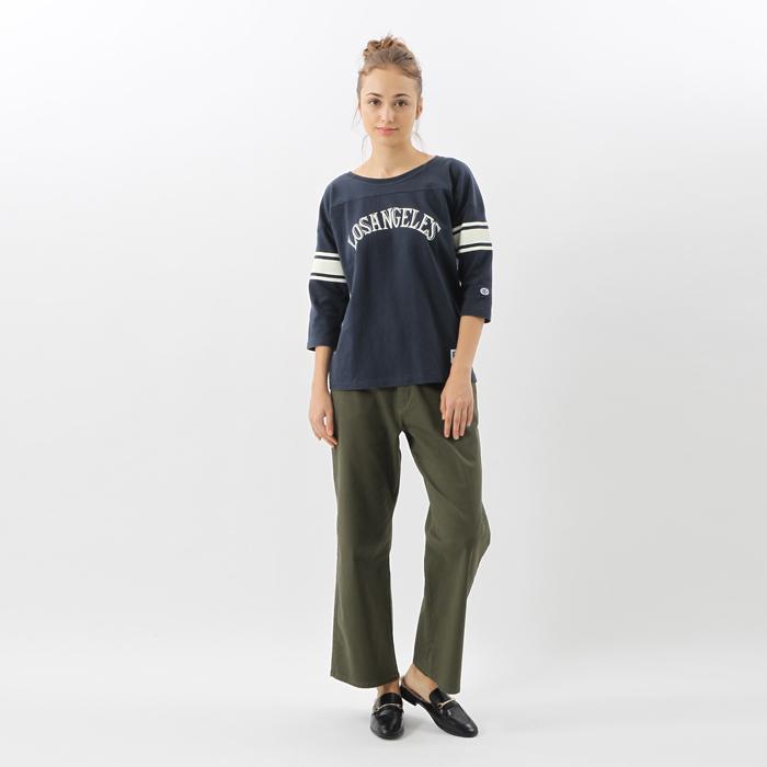 ウィメンズ 3/4スリーブ【7分袖】フットボールTシャツ 17FW チャンピオン(CW-L415)