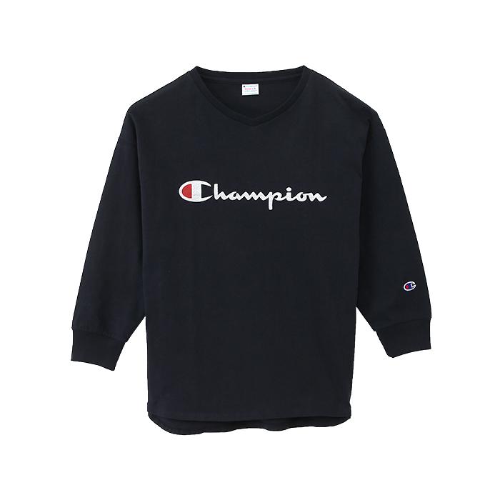 ウィメンズ VネックロングスリーブTシャツ 17FW チャンピオン(CW-L403)