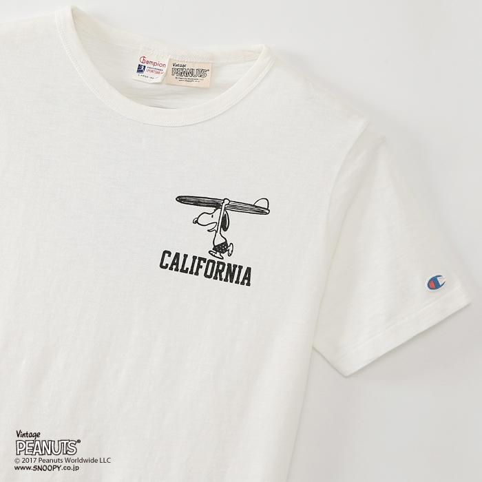 ヴィンテージピーナッツ プリントTシャツ 17MS ロチェスター チャンピオン(C9-K305)