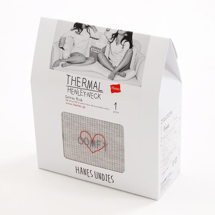 ウィメンズ サーマルヘンリーネック 17FW Hanes Undies ヘインズ(HW4-J502)