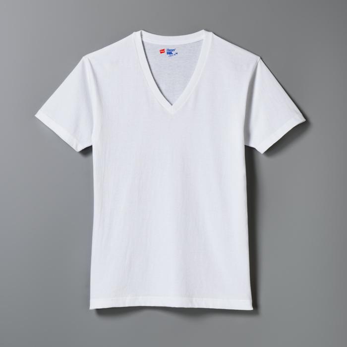 ジャパンフィット ブルーパック【2枚組】VネックTシャツ 17FW Japan Fit ヘインズ(H5215)