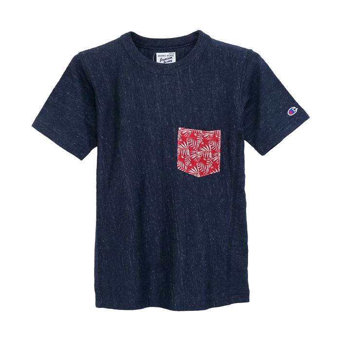 ポケット付きリバースウィーブTシャツ 17SS リバースウィーブ プレミアムジャージー チャンピオン(C3-K303)