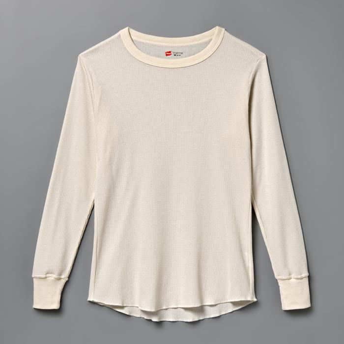 サーマルクルーネックロングスリーブTシャツ 17FW ヘインズ(HM4-G501)