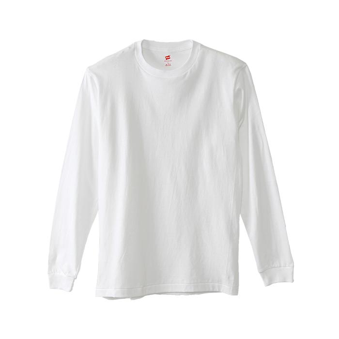 ヘインズ プレミアム クルーネックロングスリーブTシャツ 17FW PREMIUM ヘインズ(HM4-L001)