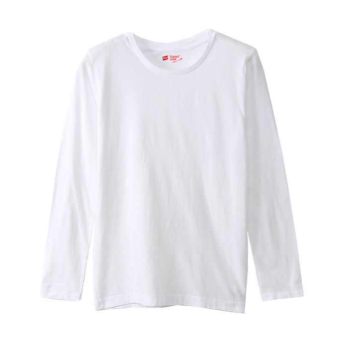 ウィメンズ ジャパンフィット【2枚組】ロングスリーブTシャツ 18SS Japan Fit for HER ヘインズ(HW5410)