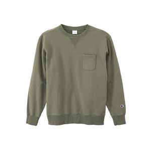 ポケット付きクルーネックスウェットシャツ 17FW 【秋冬新作】 キャンパス チャンピオン(C3-J031)
