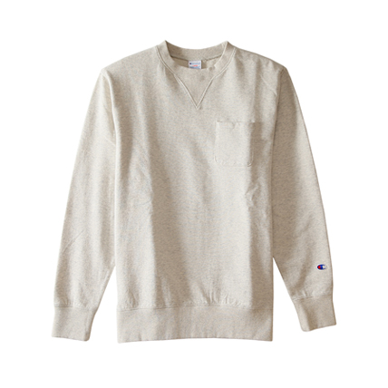 ポケット付きクルーネックスウェットシャツ 17FW キャンパス チャンピオン(C3-J031)