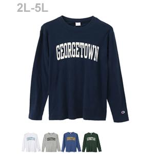 大きいサイズ ロングスリーブTシャツ 17FW 【秋冬新作】キャンパス チャンピオン(C3-L410L)