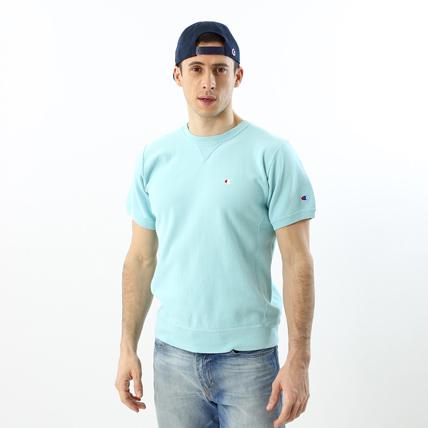 リバースウィーブハーフスリーブクルーネックスウェットシャツ(10oz) 18SS 【春夏新作】リバースウィーブ チャンピオン(C3-M002)