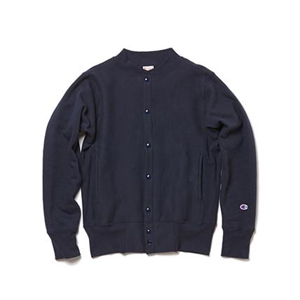 リバースウィーブ(赤タグ)スナップスウェットシャツ(12.5oz) 17FW MADE IN USA チャンピオン(C5-E002)