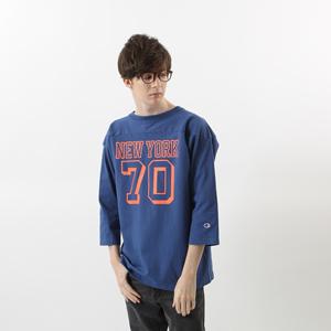 T1011(ティーテンイレブン) ラグラン3/4スリーブ【7分袖】フットボールTシャツ 17FW MADE IN USA チャンピオン(C5-L402)