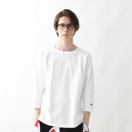 T1011(ティーテンイレブン) ラグラン3/4スリーブ【7分袖】Tシャツ 17FW MADE IN USA チャンピオン(C5-U401)