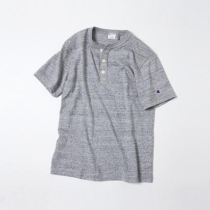 ヘンリーネックTシャツ 17SS スタンダード チャンピオン(C8-K302)