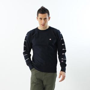 リバースウィーブプリントクルーネックスウェットシャツ 18SS 【春夏新作】スタンダード チャンピオン(C8-M002)