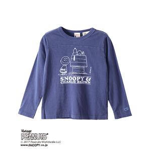 キッズ ヴィンテージピーナッツ ロングスリーブTシャツ 17FW 【秋冬新作】ロチェスター チャンピオン(CS4380)