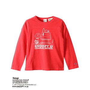 キッズ ヴィンテージピーナッツ ロングスリーブTシャツ 17FW ロチェスター チャンピオン(CS4380)