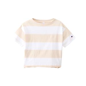 ウィメンズ ボートネックボーダーTシャツ 18SS 【春夏新作】チャンピオン(CW-M309)