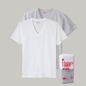 ジャパンフィット【2枚組】VネックTシャツ 17FW Japan Fit ヘインズ(H5125)