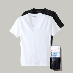 ジャパンフィット ブルーパック【2枚組】VネックTシャツ 18SS【春夏新作】Japan Fit ヘインズ(H5225)