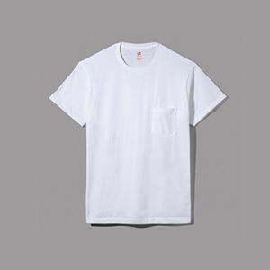 ヘインズ プレミアムジャパンフィット ポケット付クルーネックTシャツ 17FW PREMIUM Japan Fit(HM1-F004)