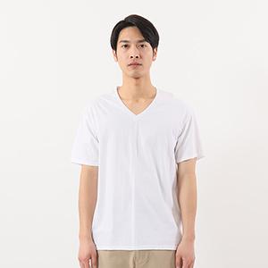 【3枚組】オープンエンドVネックTシャツ 17FW グローバルバリューライン ヘインズ(HM1EG753)