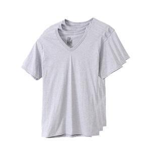 【3枚組】オープンエンドVネックTシャツ 18SS グローバルバリューライン ヘインズ(HM1EG753)