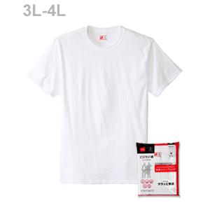 大きいサイズ【2枚組】ビジカジ魂 クルーネックTシャツ 17FW 魂シリーズ ヘインズ(HM1EK701K)