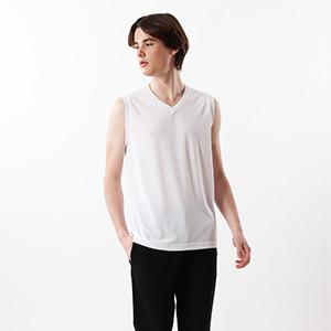 【2枚組】部活魂 ノースリーブVネックシャツ 17FW 魂シリーズ ヘインズ(HM3-G704)