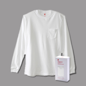 ヘインズ プレミアム クルーネックポケットロングスリーブTシャツ 17FW 【秋冬新作】PREMIUM ヘインズ(HM4-L002)