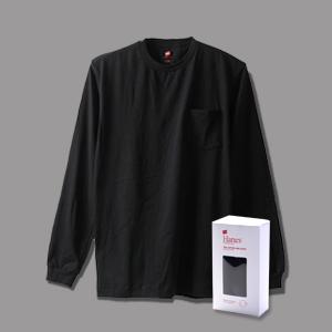 ヘインズ プレミアム クルーネックポケットロングスリーブTシャツ 17FW PREMIUM ヘインズ(HM4-L002)