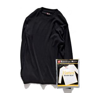 クルーネックロングスリーブTシャツ 17FW 【秋冬新作】スエードニット ヘインズ(HM4-L501)