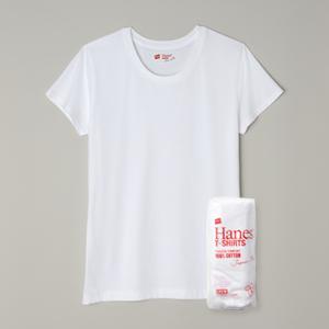 ウィメンズ ジャパンフィット【2枚組】クルーネックTシャツ 18SS Japan Fit for HER ヘインズ(HW5110)