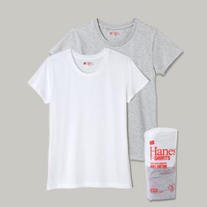 ウィメンズ ジャパンフィット【2枚組】クルーネックTシャツ 17FW Japan Fit for HER ヘインズ(HW5120)
