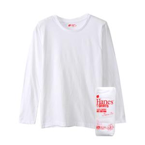 ウィメンズ ジャパンフィット【2枚組】ロングスリーブTシャツ 17FW Japan Fit for HER ヘインズ(HW5410)
