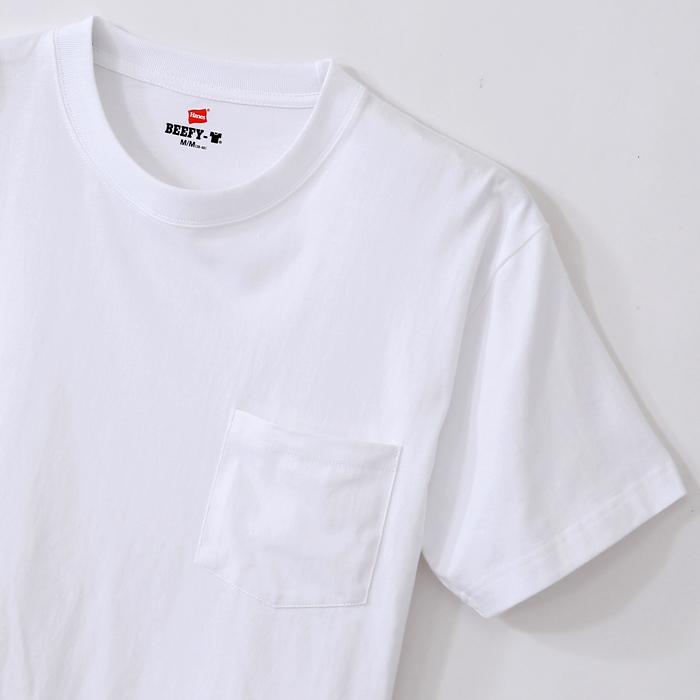ビーフィーポケットTシャツ 18FW BEEFY-T ヘインズ(H5190)