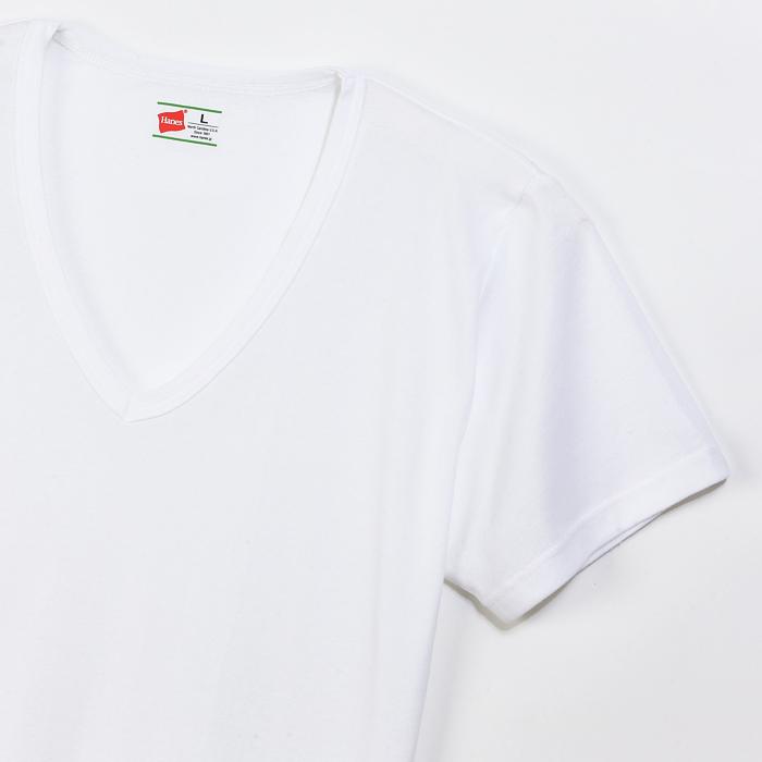 大きいサイズ 【2枚組】ビズ魂 VネックTシャツ 17FW 魂シリーズ ヘインズ(HM1-G702)