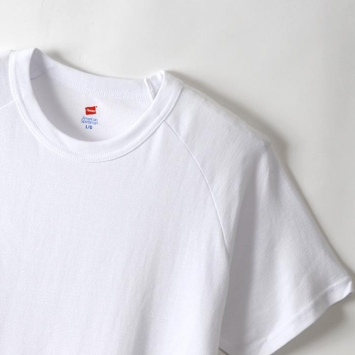 クルーネックラグランTシャツ 17FW Two Layer ヘインズ(HM1-L501)